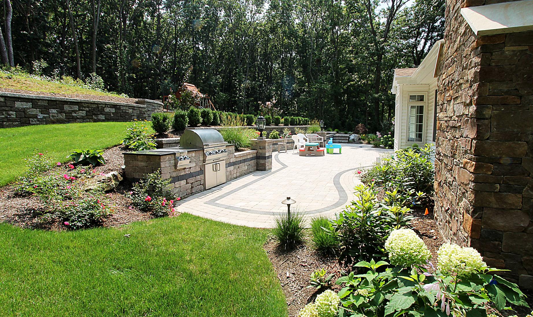 Beautiful Backyard Lawn